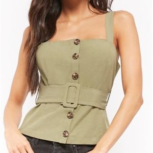 NWT Button-front Top